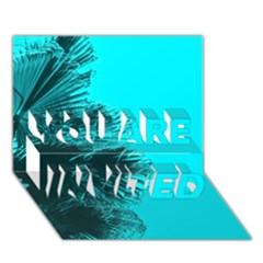 Modern Palm Leaves You Are Invited 3d Greeting Card (7x5)