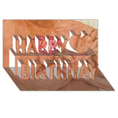 Embrace Love  Happy Birthday 3D Greeting Card (8x4)  by KentChua