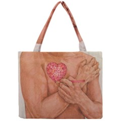 Embrace Love  Tiny Tote Bags by KentChua