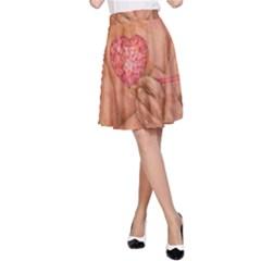 Embrace Love  A Line Skirt by KentChua