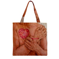 Embrace Love  Zipper Grocery Tote Bags by KentChua