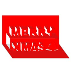 Trendy Red  Merry Xmas 3d Greeting Card (8x4)  by Costasonlineshop