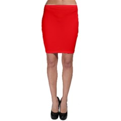 Trendy Red  Bodycon Skirts