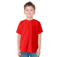 Trendy Red  Kid s Cotton Tee by Costasonlineshop