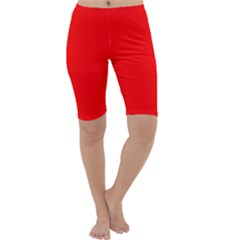 Trendy Red  Cropped Leggings by Costasonlineshop
