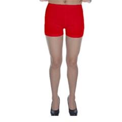 Trendy Red  Skinny Shorts by Costasonlineshop