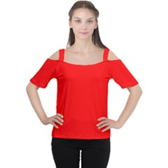 Trendy Red  Women s Cutout Shoulder Tee by Costasonlineshop