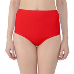 Trendy Red  High Waist Bikini Bottoms