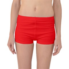 Trendy Red  Reversible Boyleg Bikini Bottoms
