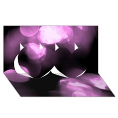 Purple Circles No  2 Twin Hearts 3d Greeting Card (8x4)  by timelessartoncanvas