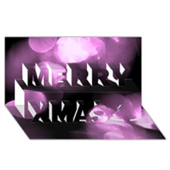 Purple Circles No  2 Merry Xmas 3d Greeting Card (8x4)