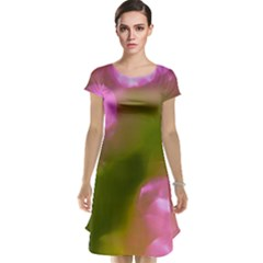 Pink and Green Circles Cap Sleeve Nightdresses by timelessartoncanvas