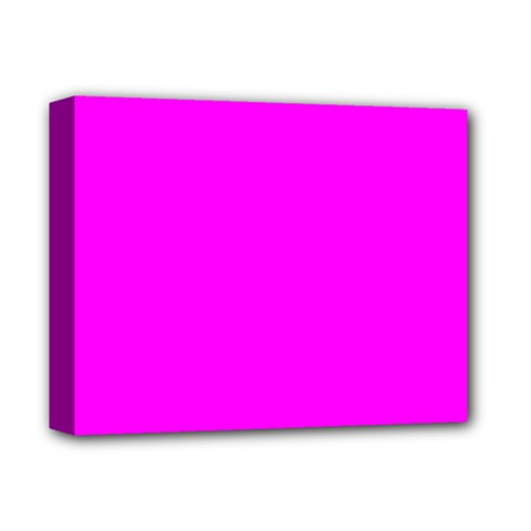 Trendy Purple  Deluxe Canvas 14  x 11  by Costasonlineshop