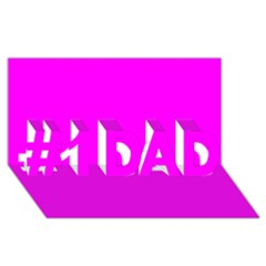 Trendy Purple  #1 Dad 3d Greeting Card (8x4)  by Costasonlineshop
