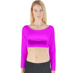 Trendy Purple  Long Sleeve Crop Top by Costasonlineshop