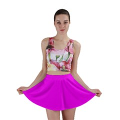 Trendy Purple  Mini Skirts