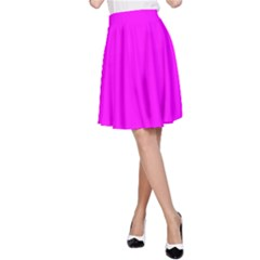 Trendy Purple  A Line Skirt