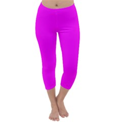 Trendy Purple  Capri Winter Leggings  by Costasonlineshop