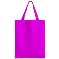 Trendy Purple  Zipper Classic Tote Bags by Costasonlineshop