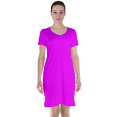 Trendy Purple  Short Sleeve Nightdresses by Costasonlineshop