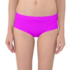Trendy Purple  Mid Waist Bikini Bottoms by Costasonlineshop