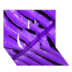 Purple Fern Apple 3d Greeting Card (7x5)  by timelessartoncanvas
