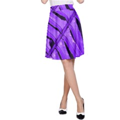 Purple Fern A-Line Skirt by timelessartoncanvas
