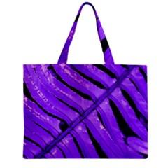 Purple Fern Zipper Tiny Tote Bags by timelessartoncanvas