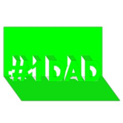 Cool Green #1 Dad 3d Greeting Card (8x4)  by Costasonlineshop