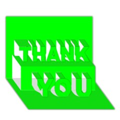 Cool Green Thank You 3d Greeting Card (7x5)  by Costasonlineshop