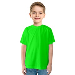 Cool Green Kid s Sport Mesh Tee