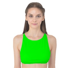 Cool Green Tank Bikini Top