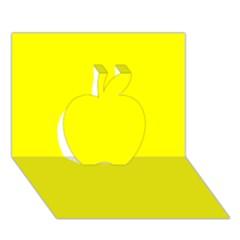 Beautiful Yellow Apple 3d Greeting Card (7x5)