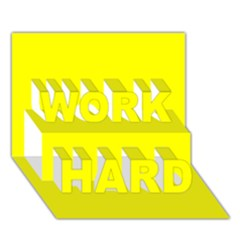 Beautiful Yellow Work Hard 3d Greeting Card (7x5)  by Costasonlineshop