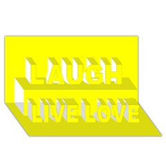 Beautiful Yellow Laugh Live Love 3d Greeting Card (8x4)