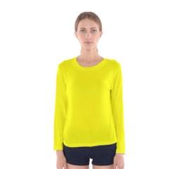 Beautiful Yellow Women s Long Sleeve T Shirt by Costasonlineshop