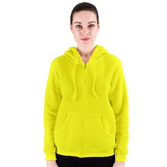 Beautiful Yellow Women s Zipper Hoodie by Costasonlineshop