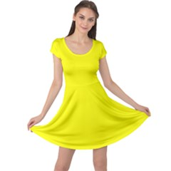 Beautiful Yellow Cap Sleeve Dresses by Costasonlineshop