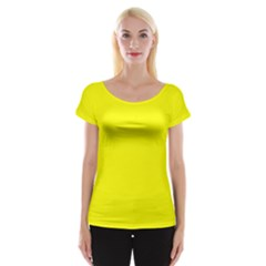 Beautiful Yellow Women s Cap Sleeve Top by Costasonlineshop