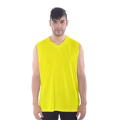 Beautiful Yellow Men s Basketball Tank Top