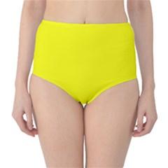 Beautiful Yellow High Waist Bikini Bottoms