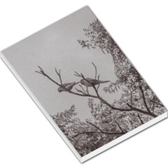 Couple Of Parrots In The Top Of A Tree Large Memo Pads by dflcprints