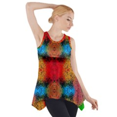 Colorful Goa   Painting Side Drop Tank Tunic