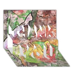 Art Studio 21216 Thank You 3d Greeting Card (7x5)