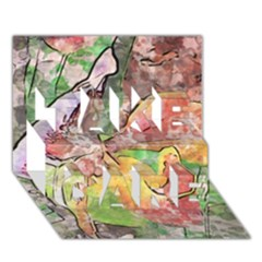 Art Studio 21216 Take Care 3d Greeting Card (7x5)  by MoreColorsinLife