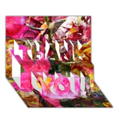 Art Studio 23216 Thank You 3d Greeting Card (7x5)  by MoreColorsinLife
