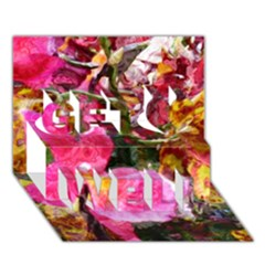Art Studio 23216 Get Well 3d Greeting Card (7x5)  by MoreColorsinLife