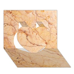 Stone Floor Marble Heart 3d Greeting Card (7x5)  by essentialimage