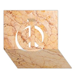 Stone Floor Marble Peace Sign 3d Greeting Card (7x5)  by essentialimage