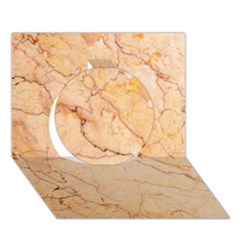 Stone Floor Marble Circle 3d Greeting Card (7x5)  by essentialimage